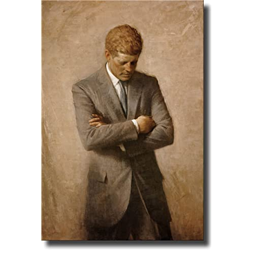 Kennedy-13x19 President John F Posthumous official Presidential portrait U.S