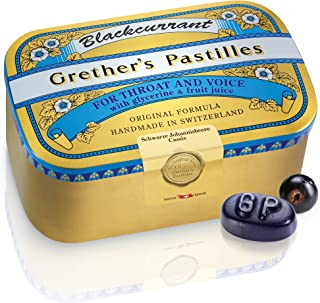 Grether's Pastilles Original Formula for Dry Mouth and Sore Throat Relief, Blackcurrant, 15 oz. Box