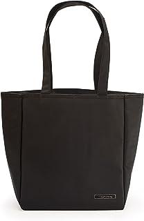 IRIS Shopper Bolsa Porta Alimentos, Tela, Negro, 26x15x30 cm