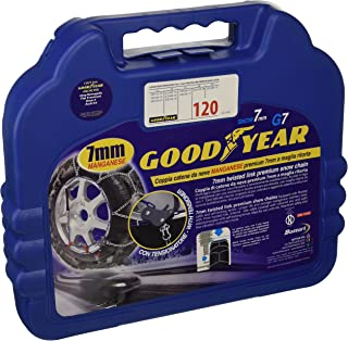 Goodyear 77957: 7 mm bilpassagerare snökedjor, TUV och ONORM godkända, storlek 120