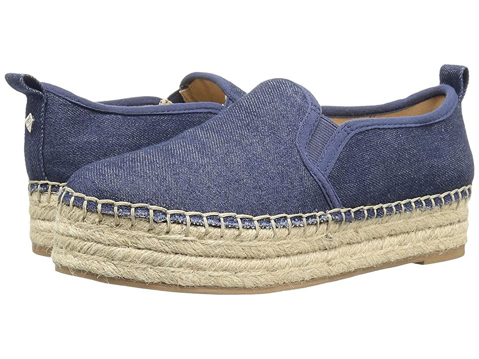 Sam Edelman Carrin (Navy Chambray Fabric) Women's Slip on Shoes