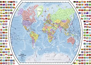 Ravensburger Political World Map 1000 Piece Jigsaw Puzzle for Adults - Every Piece is Unique, Softclick Technology Means Pieces Fit Together Perfectly