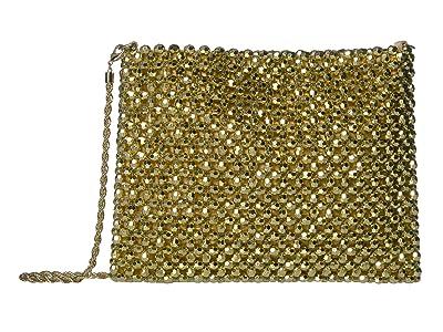 Loeffler Randall Mia Beaded Pouch (Champagne) Handbags