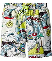 Stella McCartney Kids - Taylor Cartoon Print Swim Shorts (Toddler/Little Kids/Big Kids)