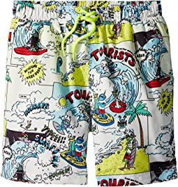 Taylor Cartoon Print Swim Shorts (Toddler/Little Kids/Big Kids)