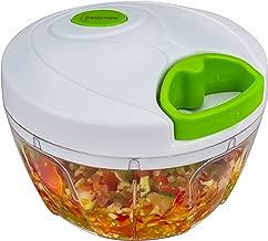 Brieftons Manual Food Chopper, Compact & Powerful Hand Held Vegetable Chopper / Blender to Chop Fruits / Vegetables / Nuts / Herbs / Onions / Garlics for Salsa / Salad / Pesto / Coleslaw / Puree