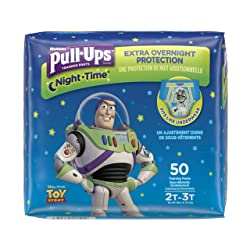 Pull-Ups Night-Time Potty Training Pants for Boys, 2T-3T (18-34 lb.), 50 Ct. (Packaging May Vary)