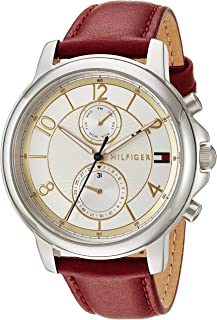 Tommy Hilfiger Womens Quartz Watch, Analog Display and Leather Strap 1781816
