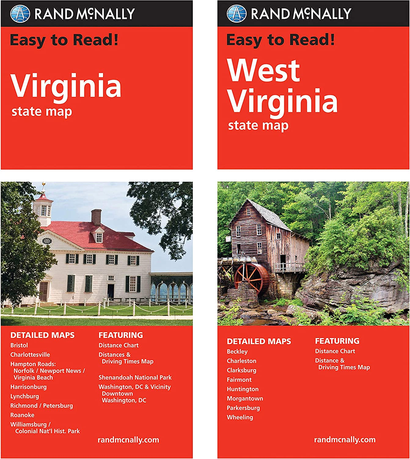 Rand McNally State Maps: Virginia Ranking TOP20 2 Maps West shopping and