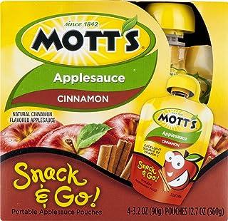 Mott's Snack & Go Cinnamon Applesauce, 3.2 oz pouches (Pack of 4)