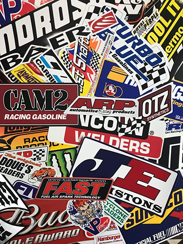 Crash Daddy Racing Decal Sticker 102 Piece Assortment