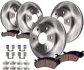 Max Brakes Front /& Rear Elite Brake Kit TA101883 E-Coated Slotted Drilled Rotors + Metallic Pads Fits: 2014 14 2015 15 Fits Nissan Xterra