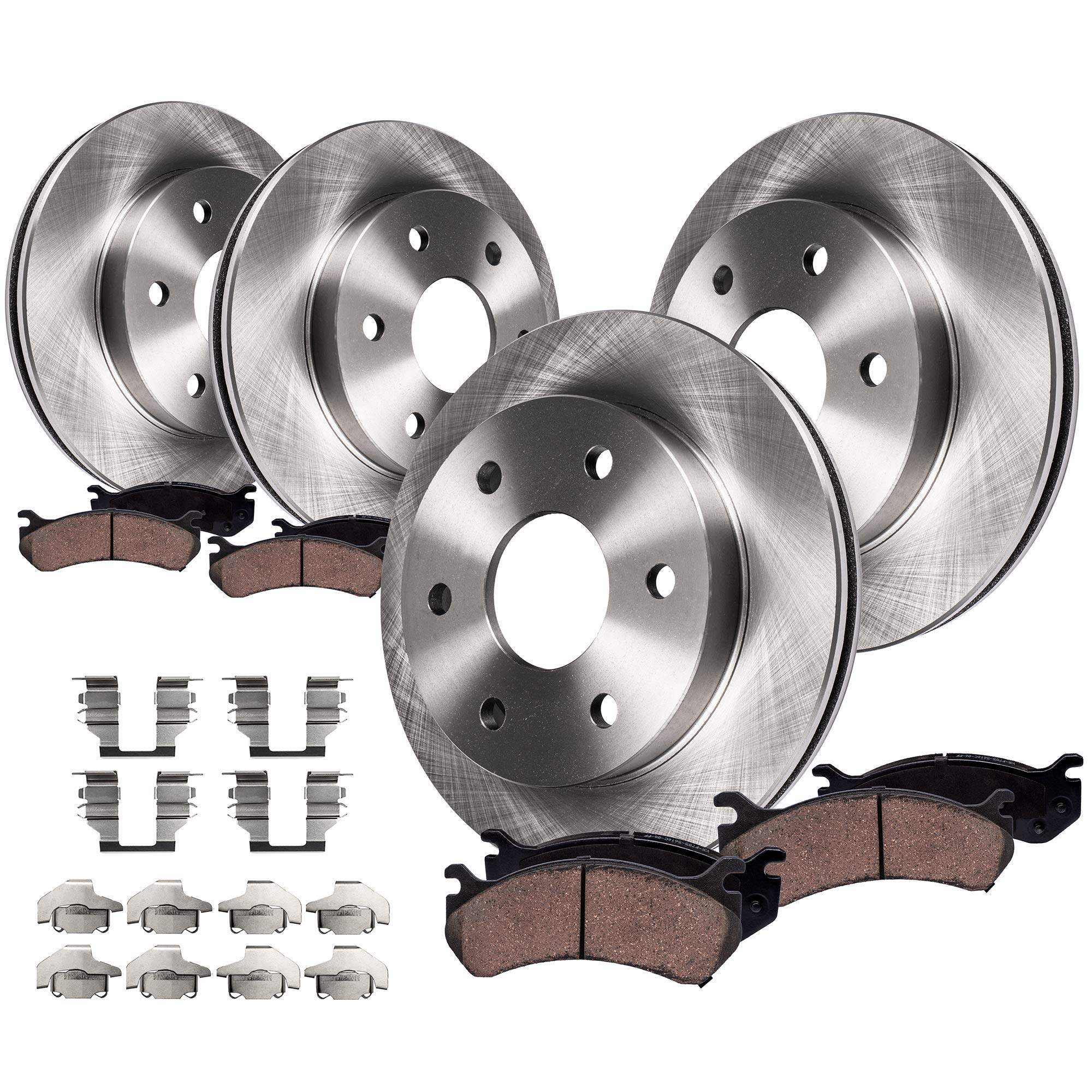 Rotors Ceramic Pads F OE Replacement 03 Chevy Trailblazer EXT 7 Passenger