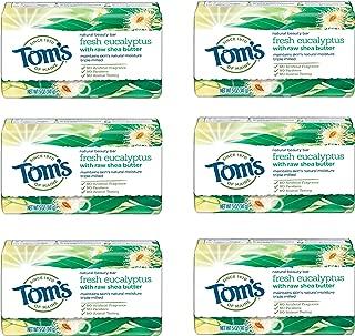 Tom's of Maine Natural Beauty Bar, Bar Soap, Natural Soap, Fresh Eucalyptus, 5 Ounce, 6-Pack