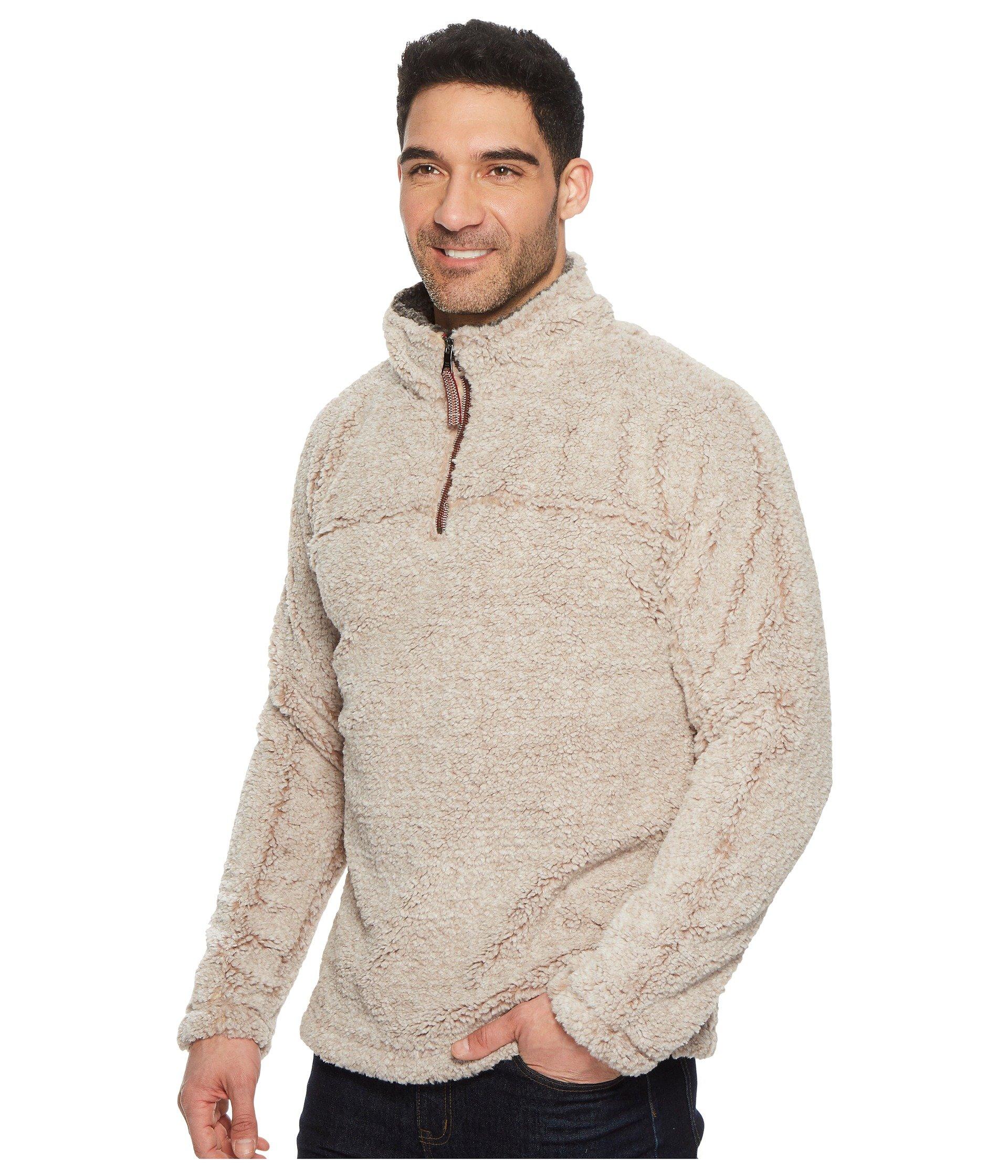 Shearling Grit Zip Pullover 1 True Oatmeal Luxe 4 Melange qntAxH4T