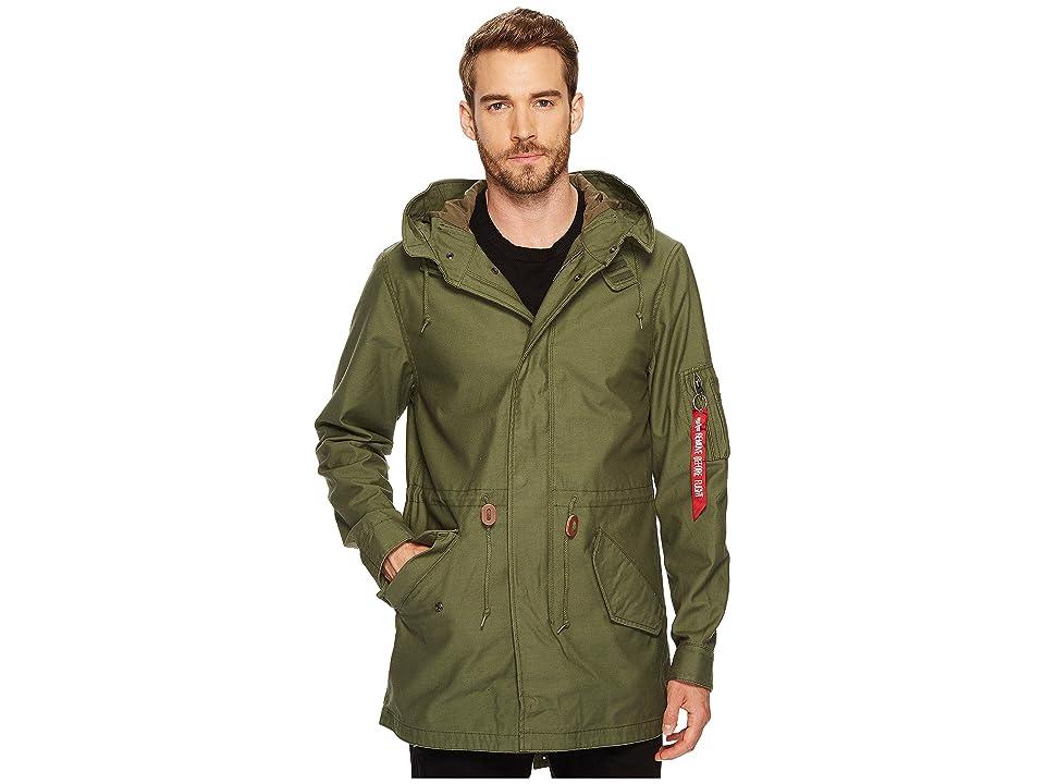 Image of Alpha Industries M-59 Fishtail Coat (Olive) Men's Coat
