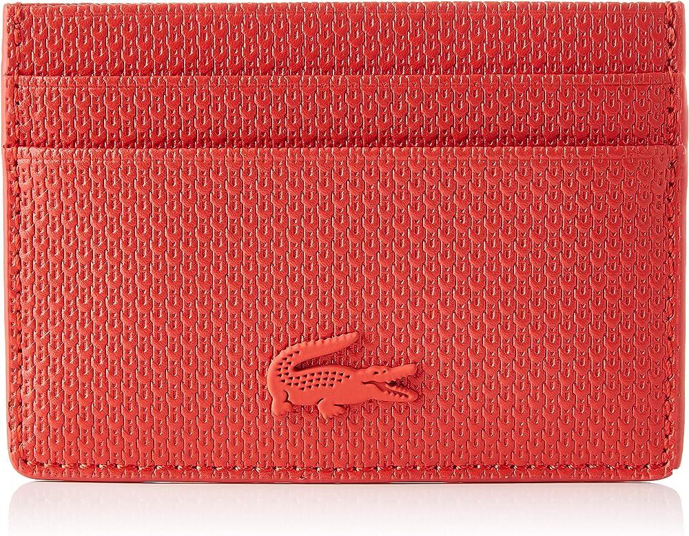 Lacoste, porta carte di credito da donna, in pelle NF3403CE