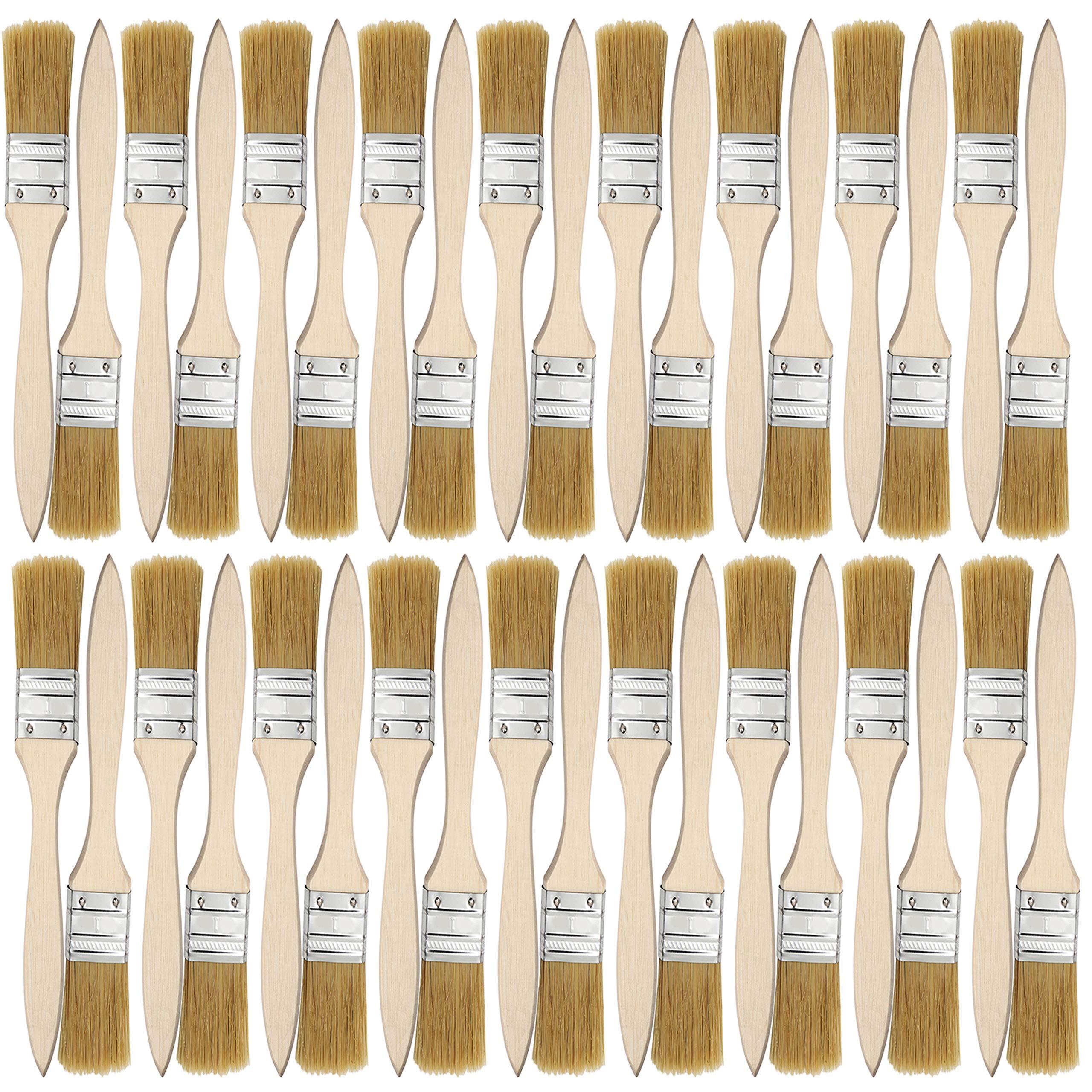 Kurtzy Pack 36 Brochas de 25,4mm - Brochas para Pintura, Tintes, Barnices, Pegamentos, Gesso, Pinturas al Óleo, Acrílicas y Acuarelas - Brochas Multiusos: Amazon.es: Bricolaje y herramientas