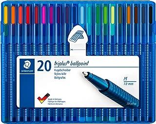 Staedtler Triplus Ball Ballpoint Pen 20 Brilliant Colours, Line Width M. 437 MSB20