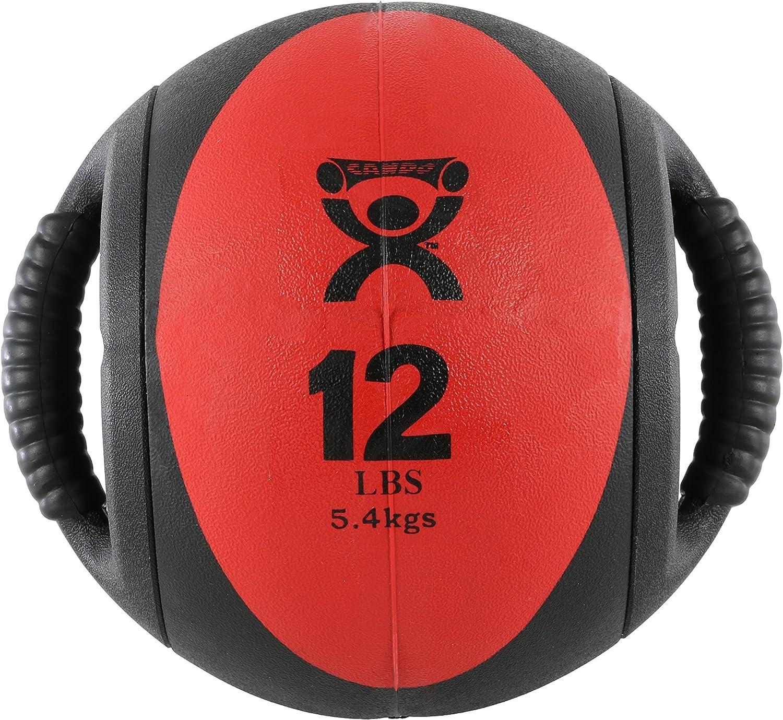 CanDo Dual Handle Medicine Ball, Red