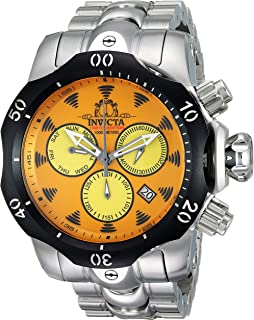 Invicta Men's 'Character Collection' Quartz Stainless Steel Casual Watch, Color:Silver-Toned (Model: 24997)