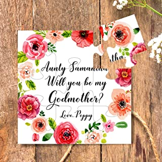 Godmother Gift Will you be my Godparents Godmother puzzle
