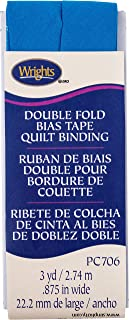 Wrights Teal Double Fold Quilt Binding 7/8