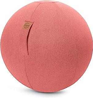Jumbo väska sittboll – filt lax rosa