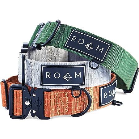 ROAM Premium Dog Collar - Adjustable Heavy Duty 3mm Thick Nylon Collar with Quick-Release Metal Buckle (Colorado Nightsky, Extra Tough, Medium)