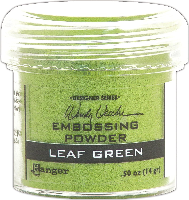 Ranger WEP48046 Wendy Vecchi .63oz-Leaf security Embossing Powder Super Special SALE held Green