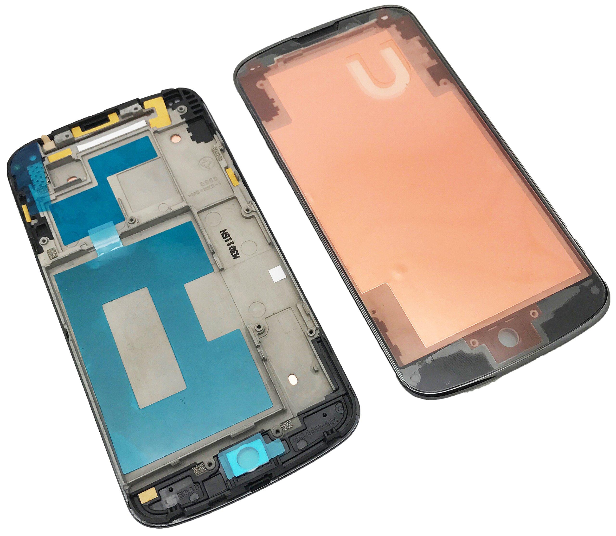 iDigital LG Google Nexus 4 E960 pantalla Marco Frame Bisel Negro ...