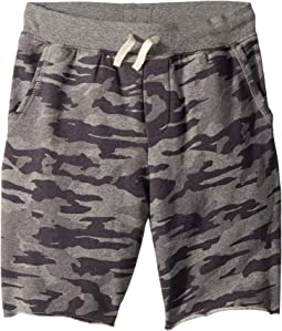 Camo Cotton French Terry Shorts (Big Kids)