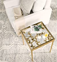 Safavieh Home Collection Rosalia Butterfly Side Table, Antique Gold