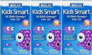 Bioglan Kids Smart Omega 3 Fish Oil, 30 Count (Pack of 3)