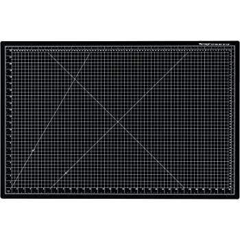 "Dahle Vantage 10673 Self-Healing Cutting Mat, 24""x36"", 1/2"" Grid, 5 Layers for Max Healing, Perfect for Crafts & Sewing, Black"