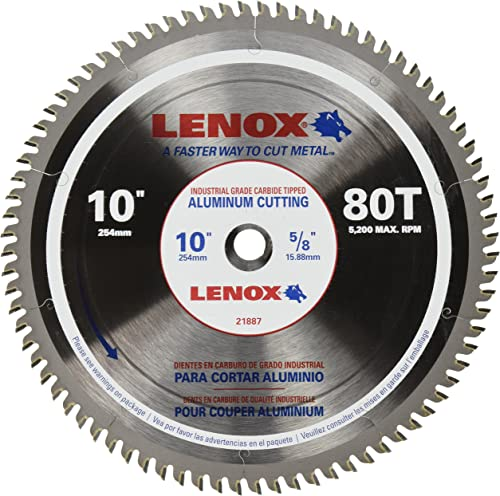 2021 LENOX Tools 10-Inch Circular Saw wholesale Blade, Aluminum-Cutting, discount 80-Tooth (21887AL100080CT) online sale