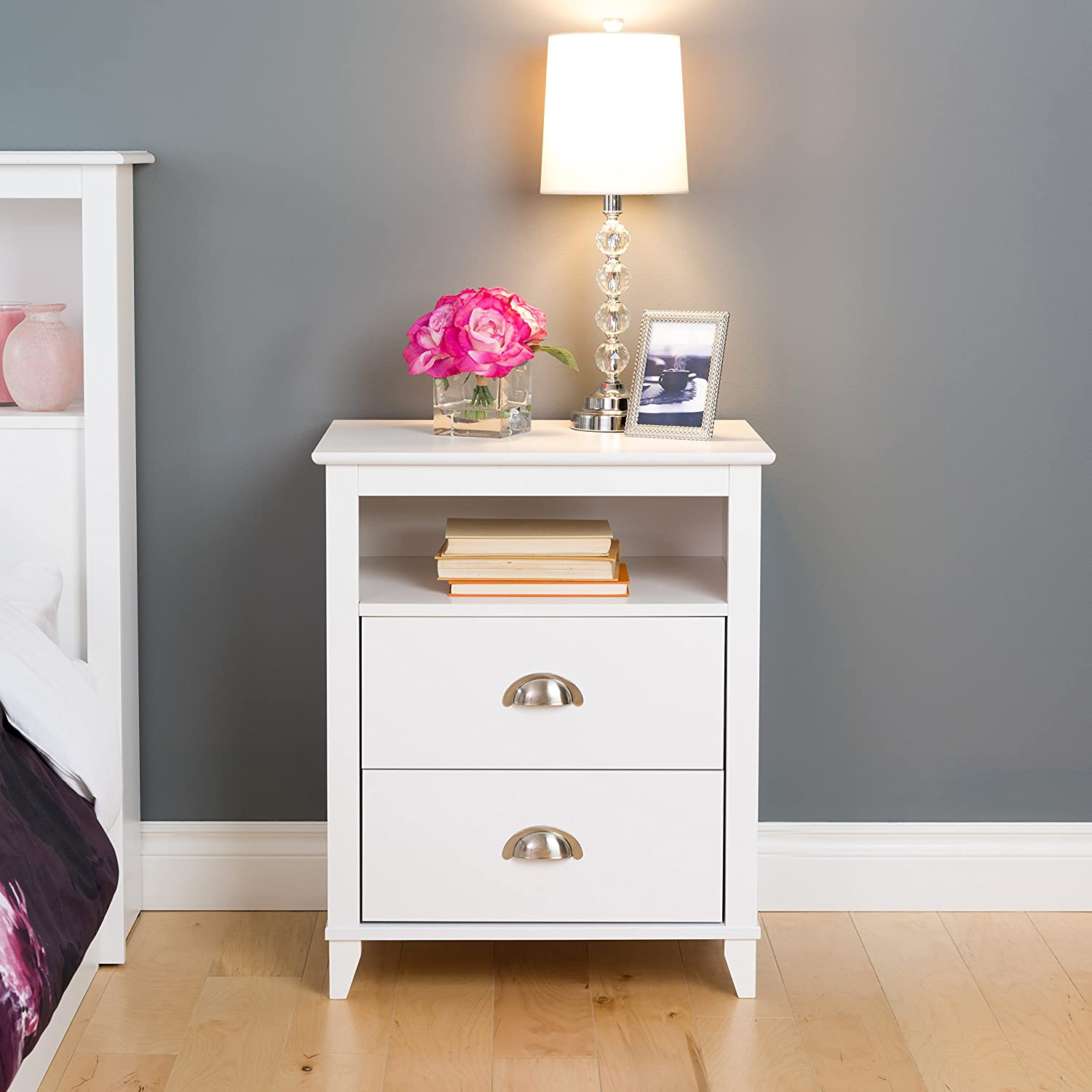 Prepac Yaletown 2021new Max 64% OFF shipping free 2 Drawer Nightstand Tall White
