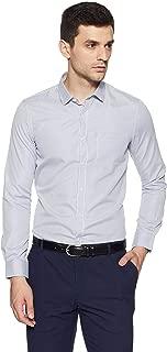 Excalibur by Unlimited Men's Solid Regular Fit Formal Shirt