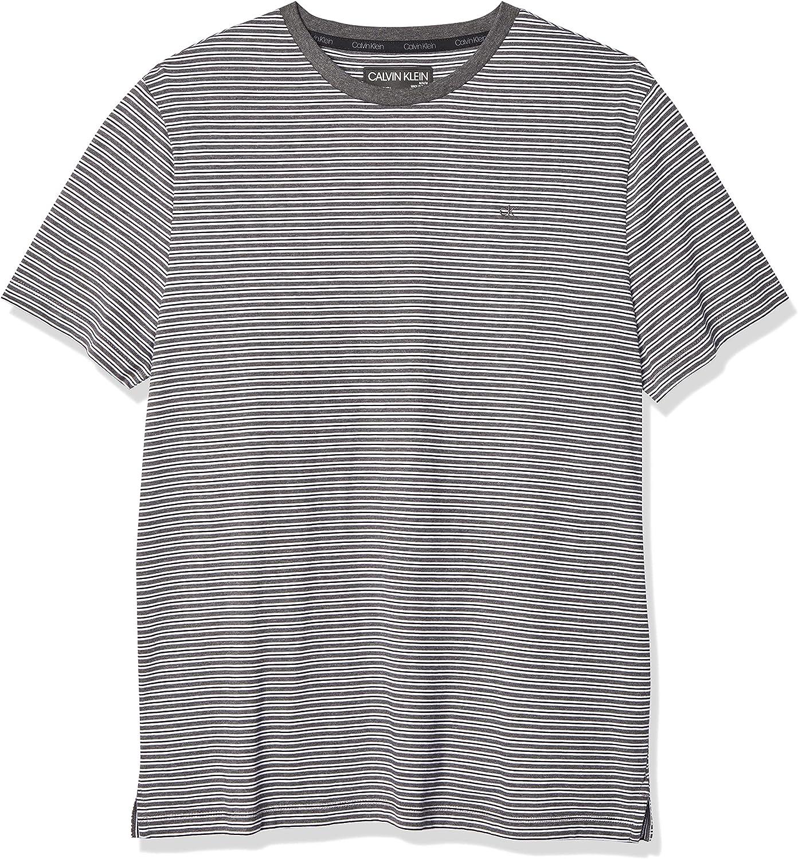 Calvin NEW before selling ☆ Klein Men's Short Sleeve Neck Max 66% OFF Liquid Crew Jersey T-Shirt