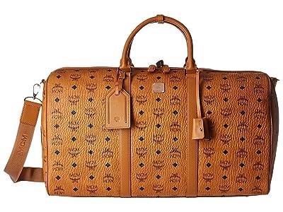 MCM Large Visetos Weekender (Cognac) Weekender/Overnight Luggage