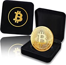 innoGadgets Fysieke Bitcoin-medaille 2020 bedekt met 24-karaats echt goud. In een nobele kist voor EEN echt verzamelobject...