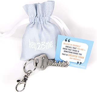 key2Bme Greater Than Key - Arrow Keychain & Inspirational Quote - The Cute Cool Fun Unique Small Gift Under $10 for Giving Women Men Encouragement Positivity Good Luck Congratulations New Job