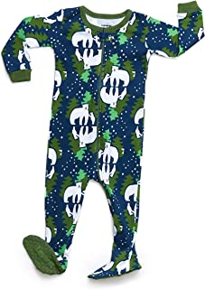 9b318d069d Leveret Baby Boys Girls Footed Pajamas Sleeper 100% Organic Cotton Kids    Toddler Pjs Sleepwear