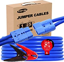 TOPDC Jumper Cables with Quick Connect Plug 1 Gauge 25 Feet 700Amp Heavy Duty Booster Cables with Carry Bag (Or Box) (1AWG x 25Ft)