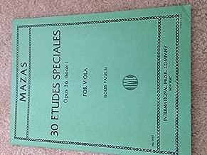 Mazas 30 Etudes Speciales Opus 36 Book I for Viola