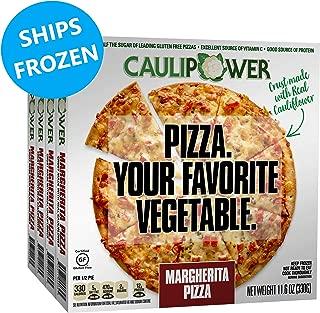 CAULIPOWER Margherita Cauliflower Crust Pizzas, Gluten Free, Non-Gmo, Lower Carb (4 Pack)