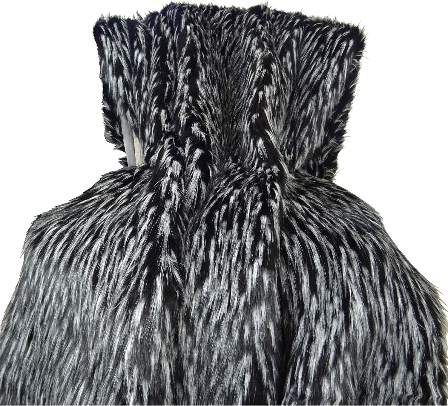 Plutus Brands Fixed price for sale Max 42% OFF Wolf Fur Throw Pillow 60 White 96 x Black