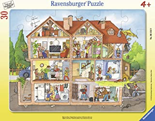 Ravensburger 06154, Inside The House 30 Piece Frame Tray Puzzle for Kids, Every Piece is Unique, Pieces Fit Together Perfectly