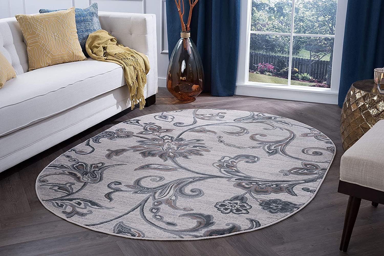 Garland Max 72% OFF Cream free shipping Round Rug for Living B Area Rugs Modern Room -