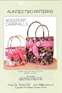Aunties Two Patterns Rockport Carryalls Totes Sewing Pattern